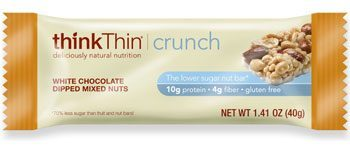Think Thin White Chocolate Dipped Mixed Nuts Crunch Bar