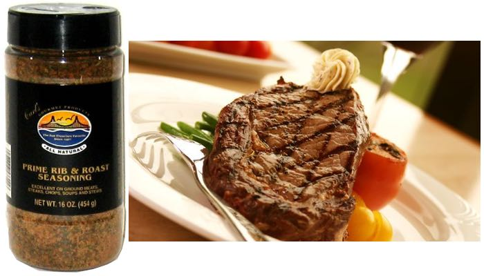 Carl's Gourmet All Natural Prime Rib & Roast Seasoning and Meat Rubs 16 oz