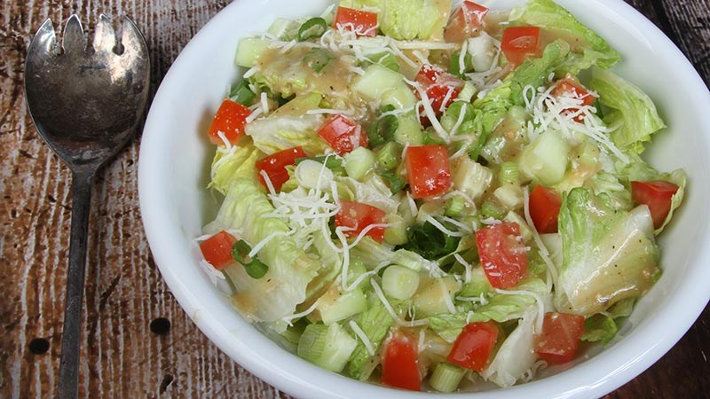 simple garden salad low carb gluten free recipe